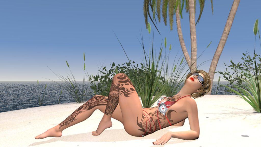 Пляжный набор для Cinema 4D