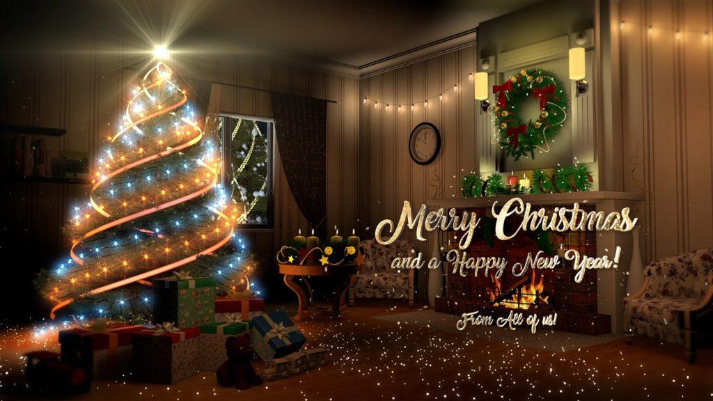 оздравление Новым годом и Рождеством!