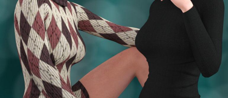 Свитер-платье и берет для женщин Genesis 3